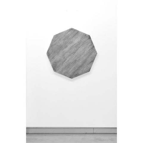Grey Octagonal Textured Painting