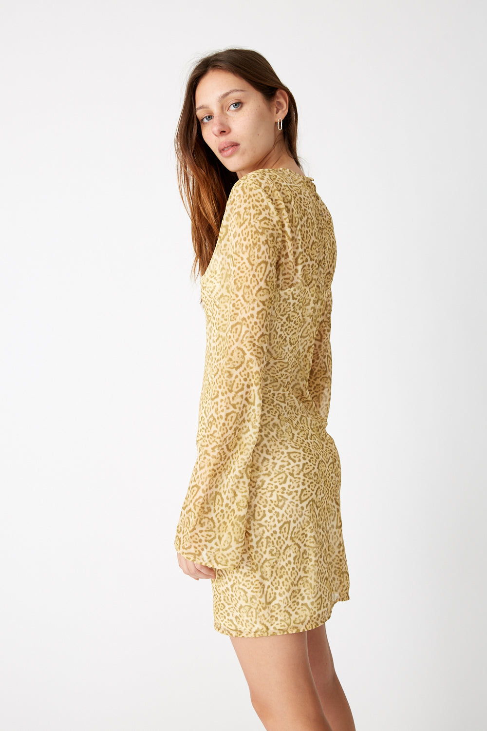 RUMBA LS MINI DRESS | SAFARI