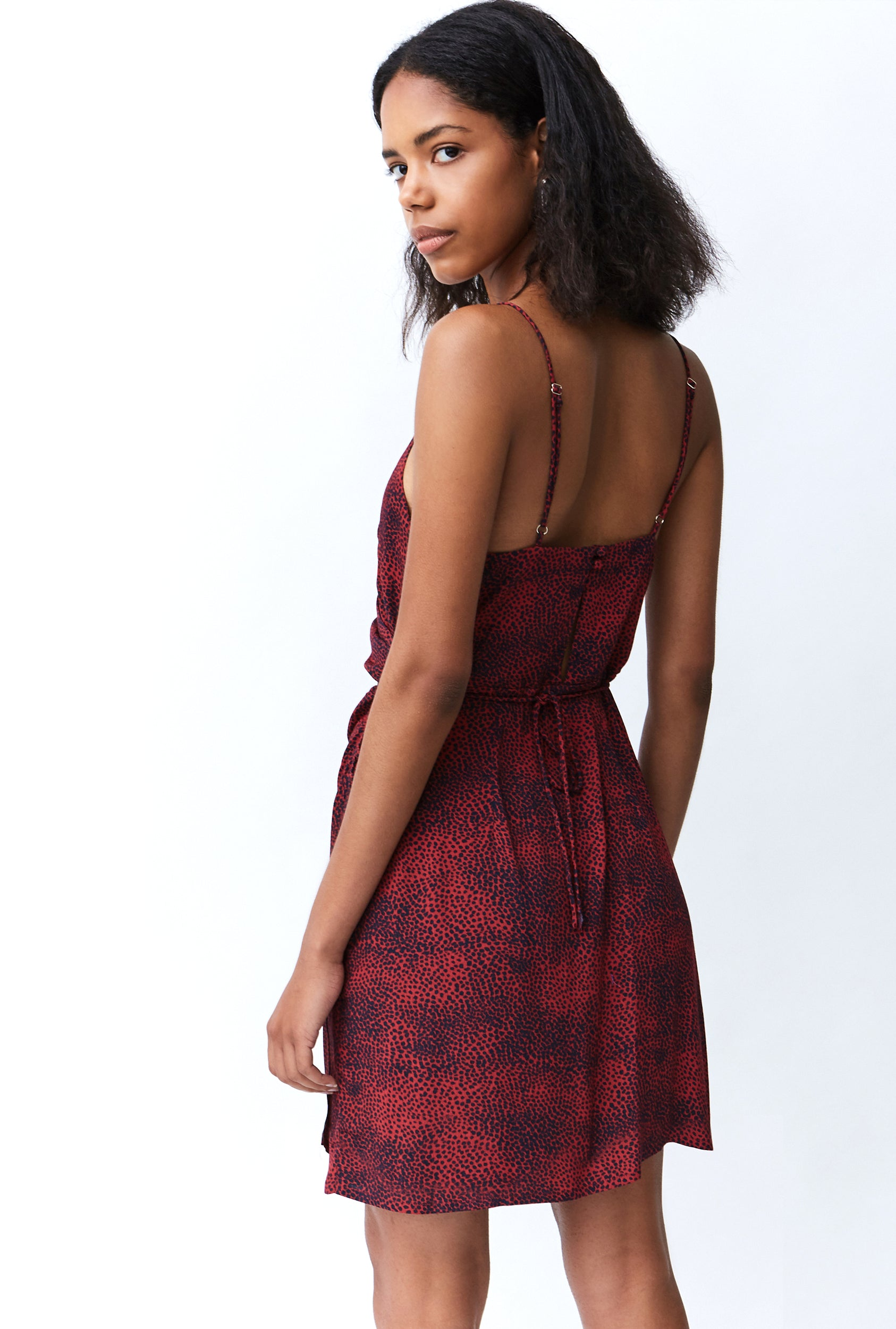 THE HUNTED MINI CROSS DRESS | CHERRY ANIMAL