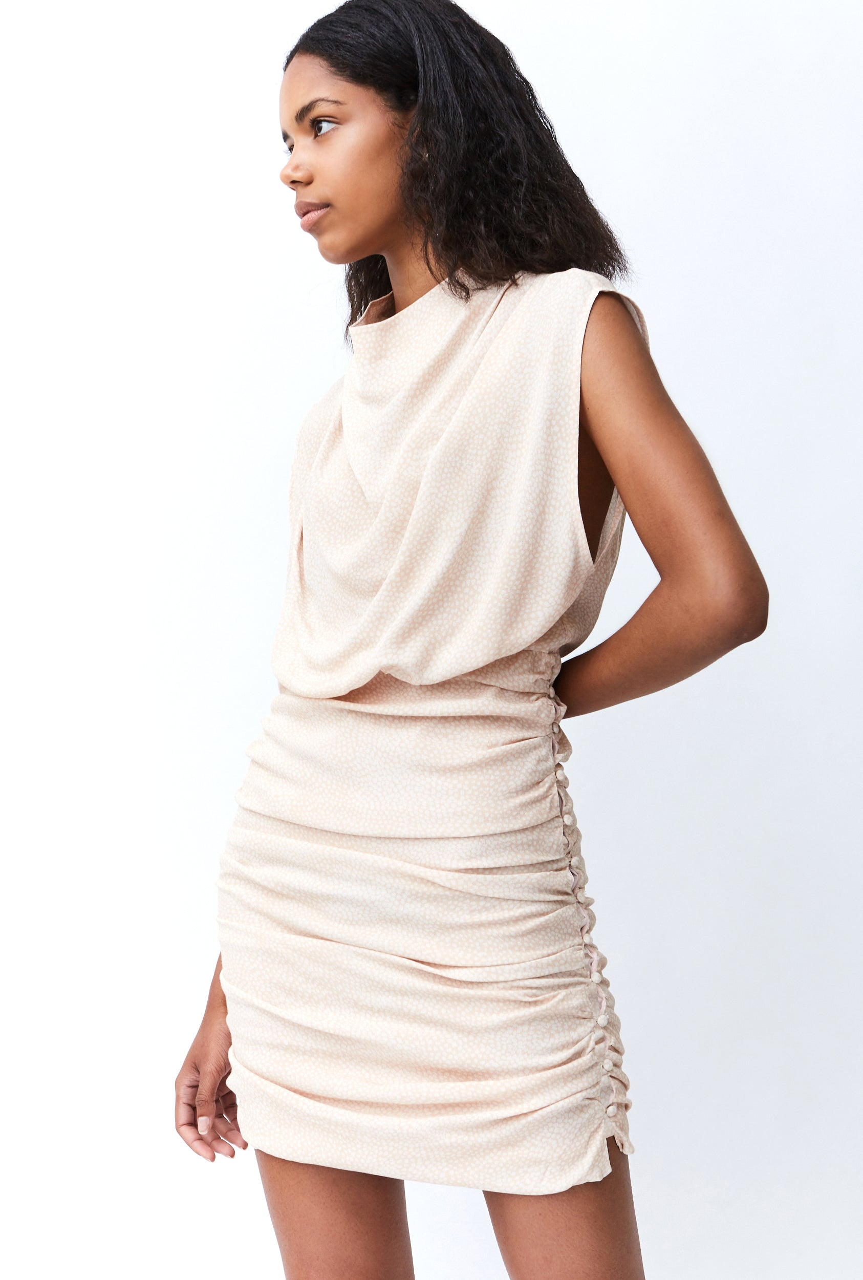 THE HUNTED HIGH NECK DRESS | TAN ANIMAL