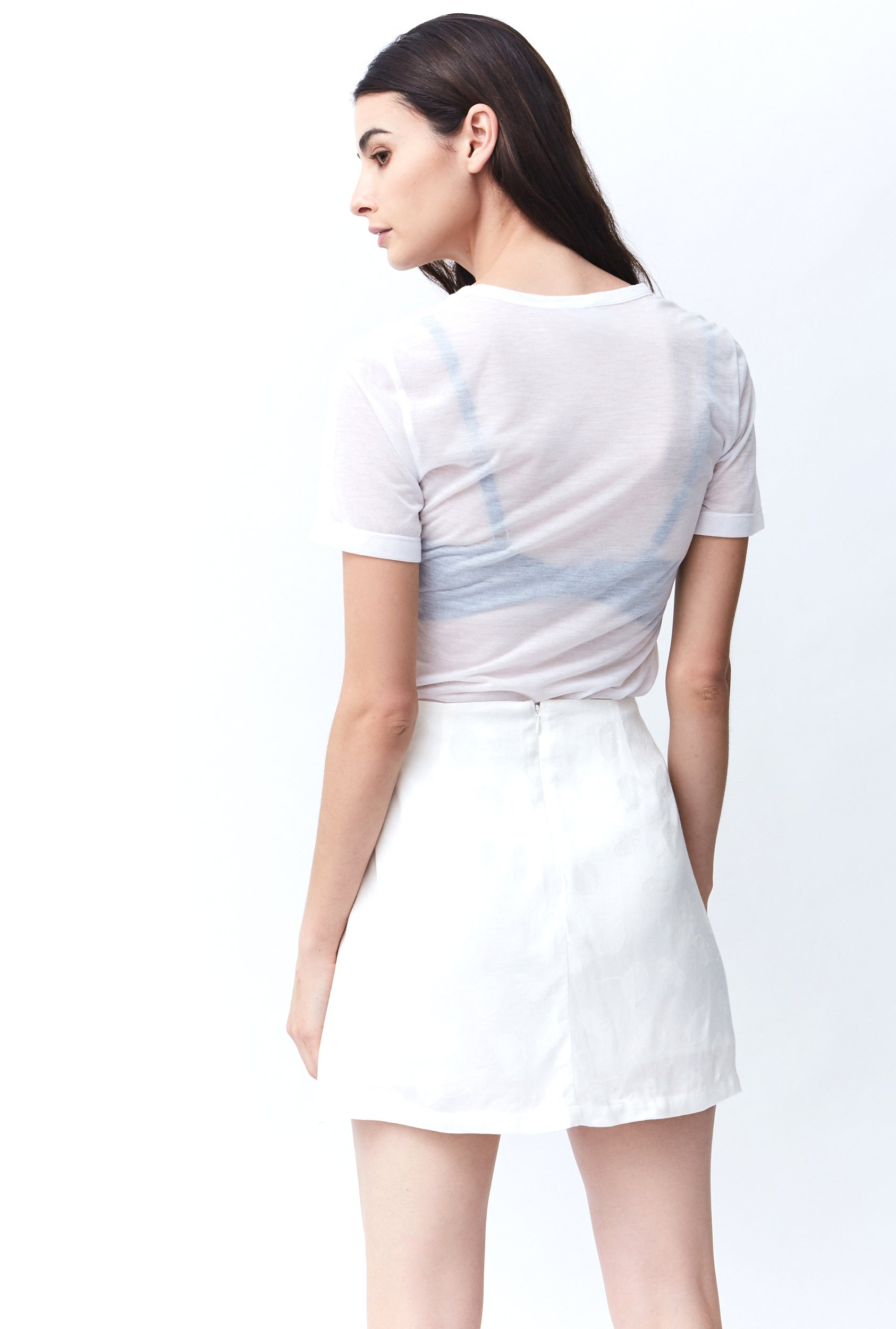 DAISY MINI A-LINE SKIRT | WHITE