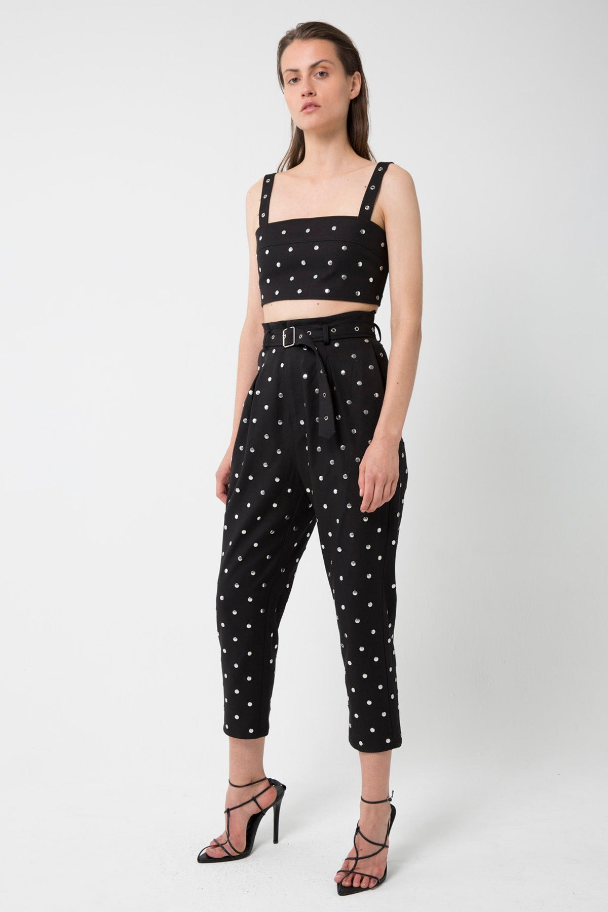 HEY STUD CROP TOP | BLACK