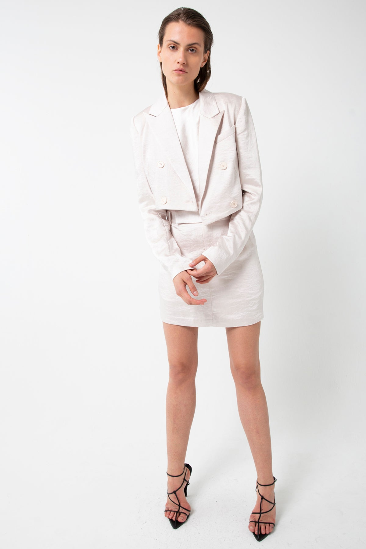 BOSS TAILORED MINI SKIRT | PEARL