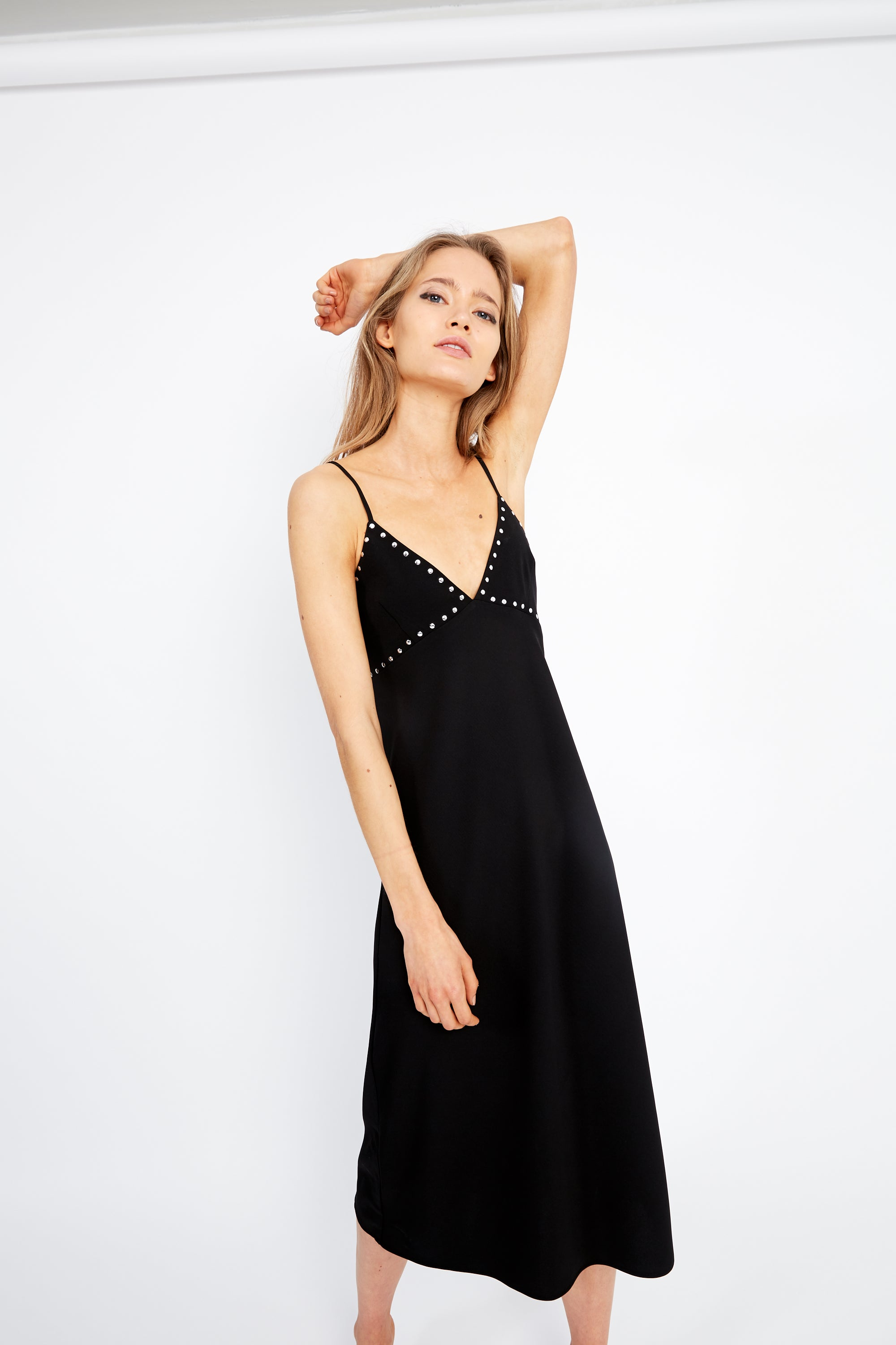 THE WONDERER BIAS SLIP DRESS | BLACK