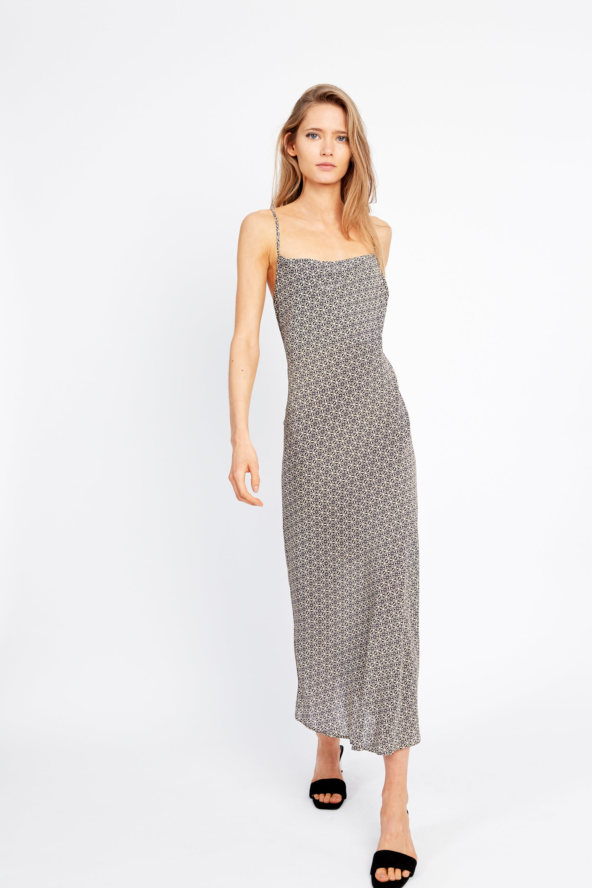 MOSAIC BIAS SLIP DRESS | MOSAIC