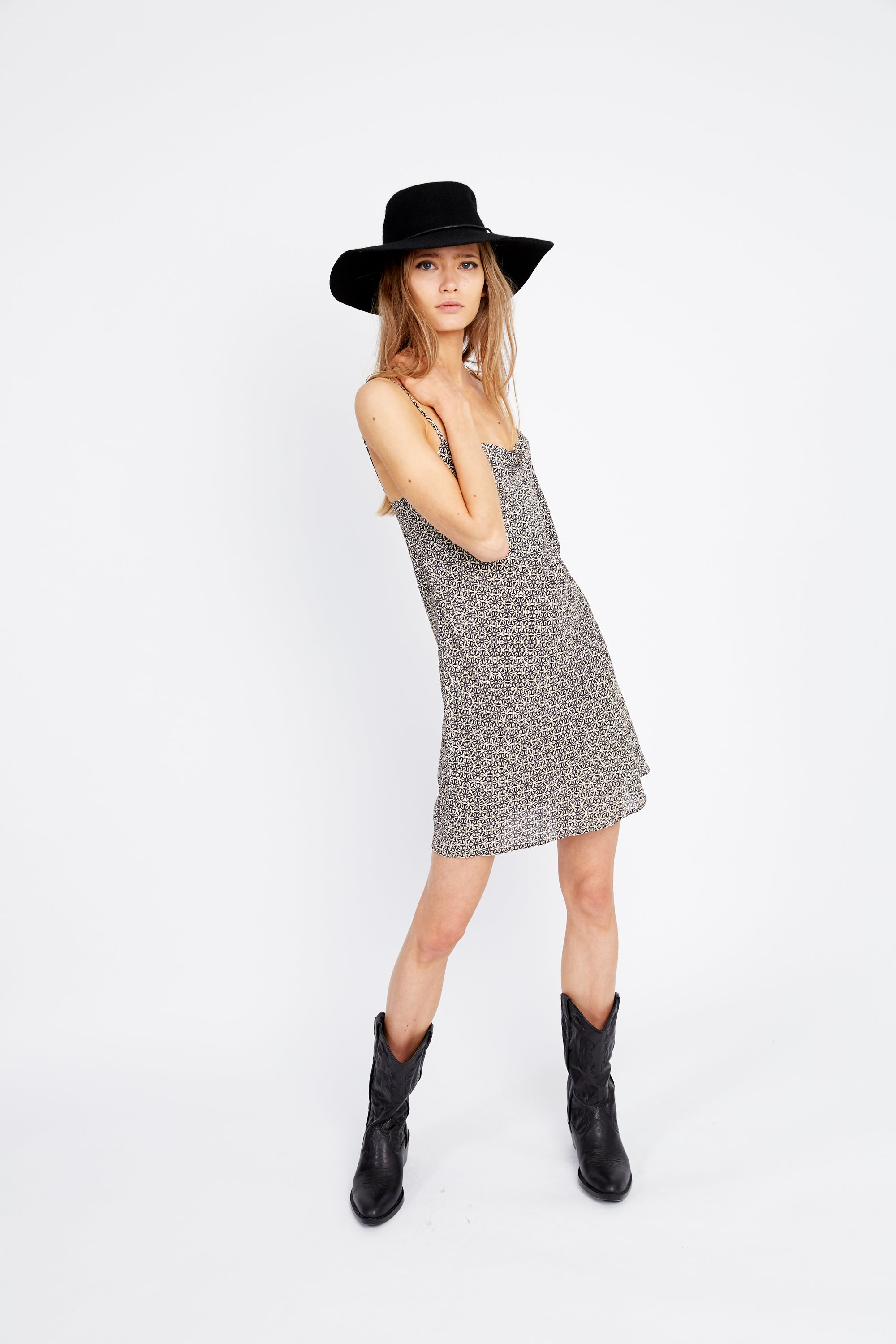 MOSAIC BIAS MINI DRESS | MOSAIC