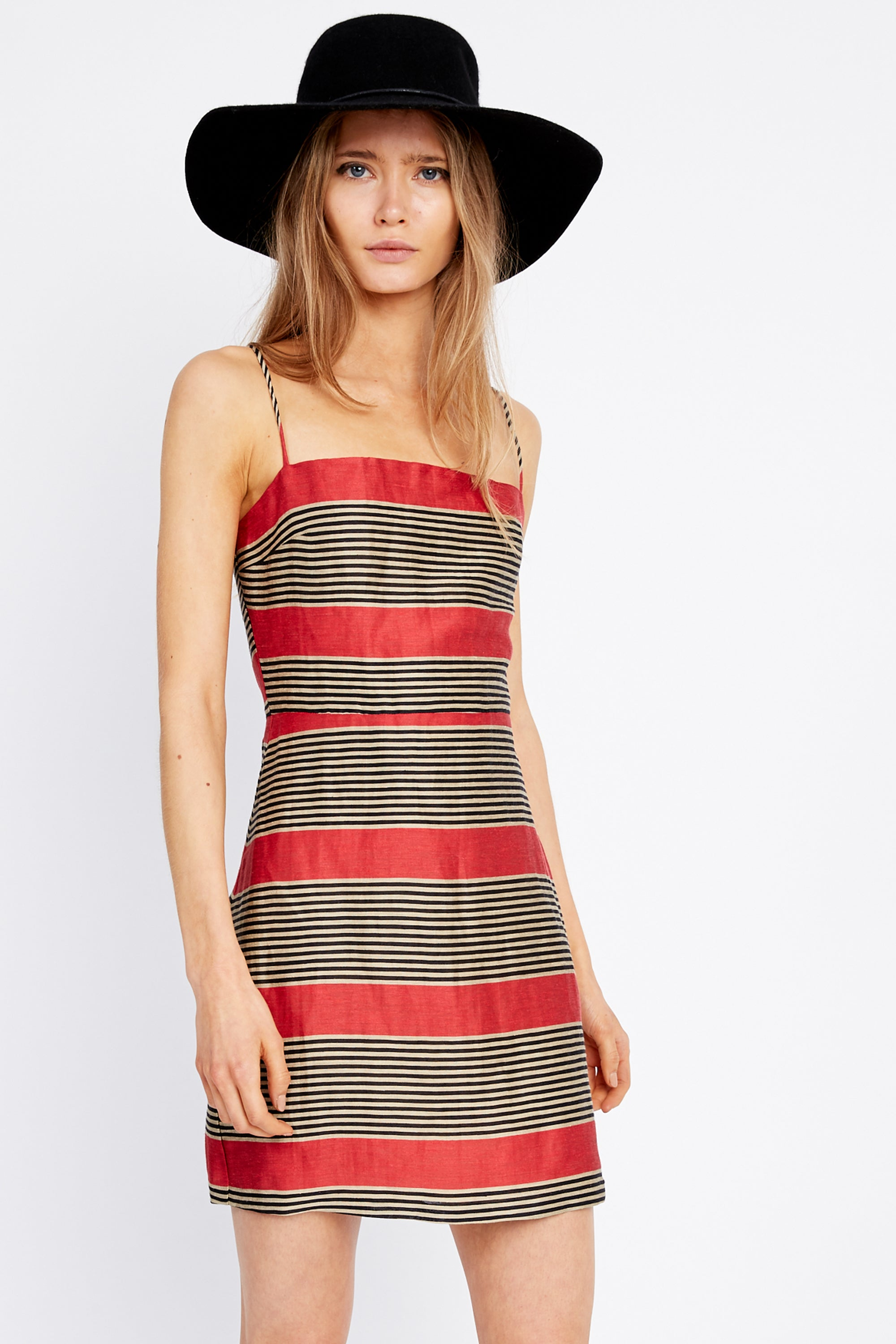 PARALLELS MINI DRESS | ROSSA STRIPE