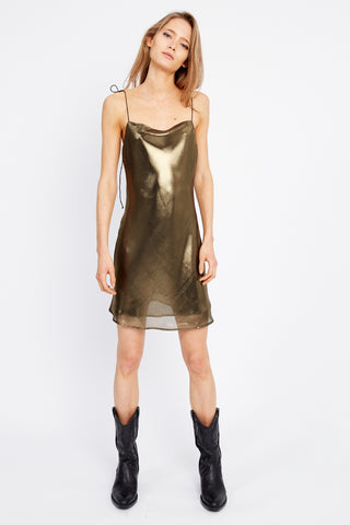 MIRROR MIRROR BIAS MINI SLIP | BRASS