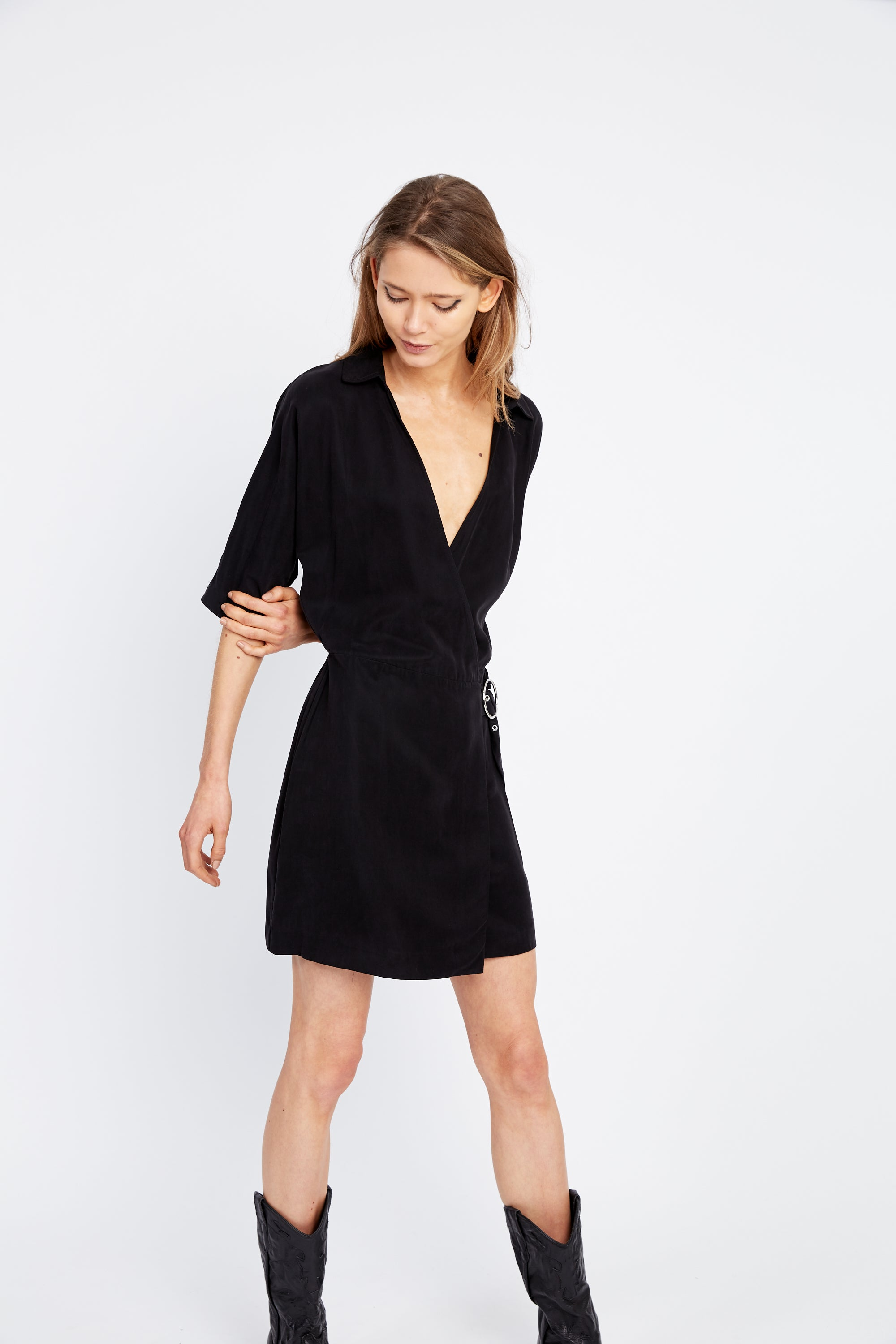 ECLIPSE WRAP DRESS | BLACK
