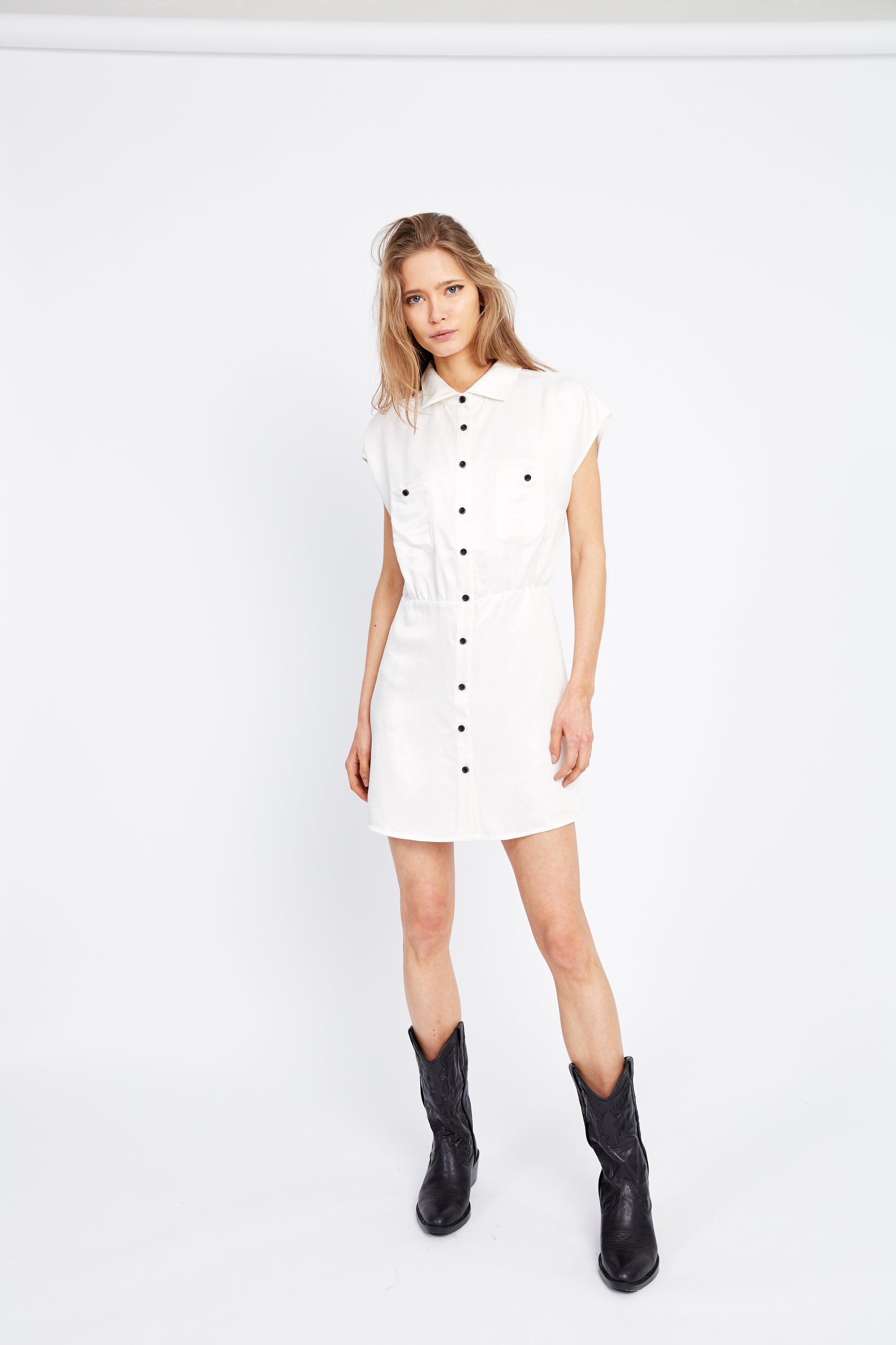 VICE VERSA SHIRT DRESS | OFF WHITE