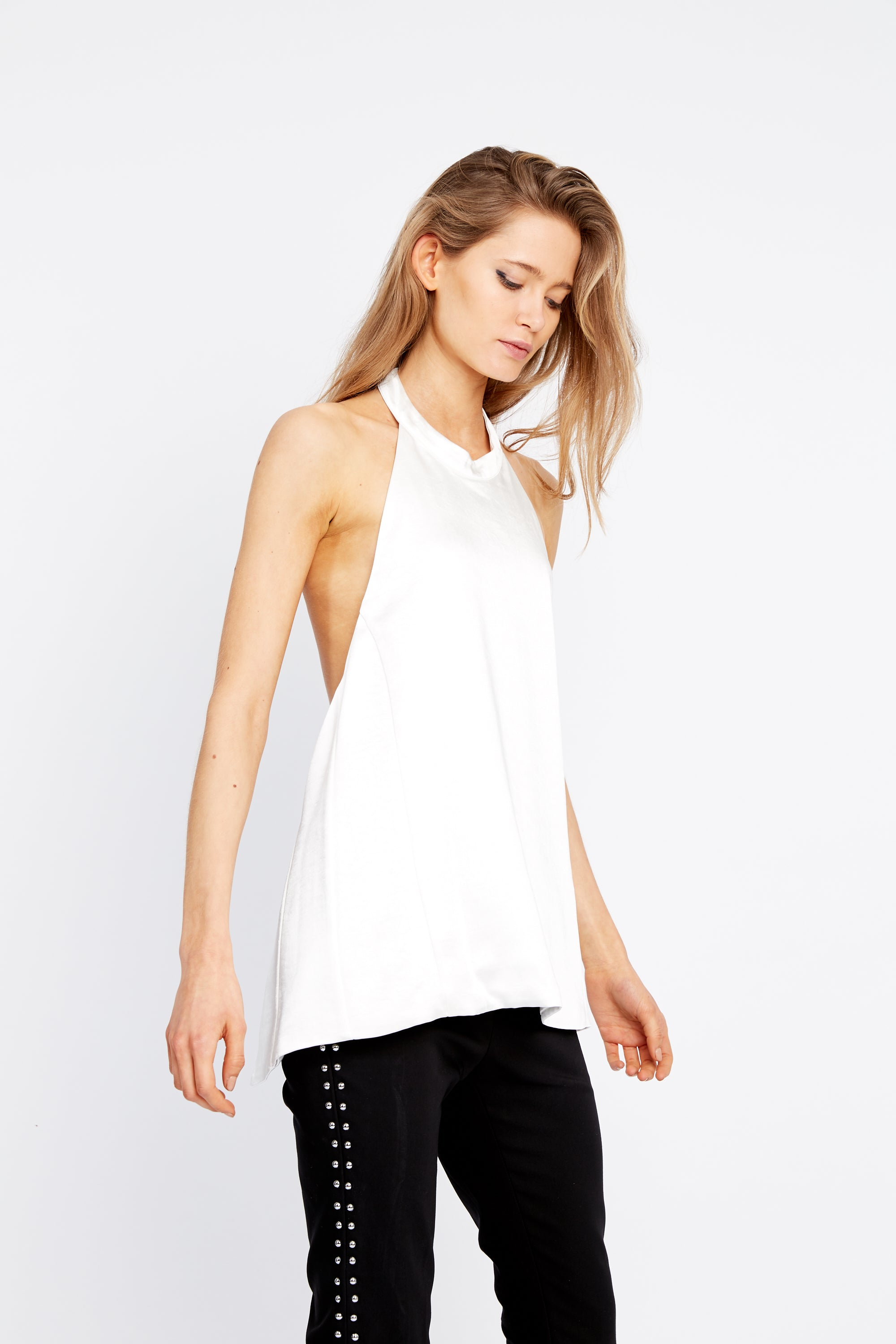 OUTLAW HALTER TOP | OFF WHITE