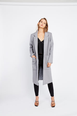 UNDER WRAPS WOOL COAT | GREY MARLE