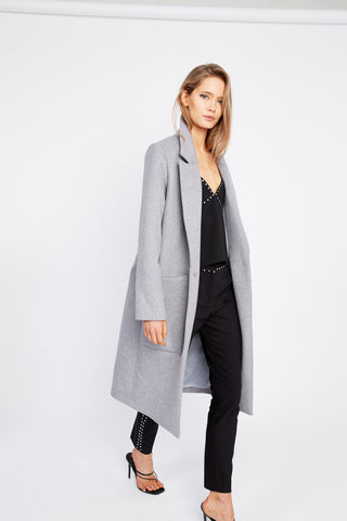 TIED DOWN COAT | GREY MARLE