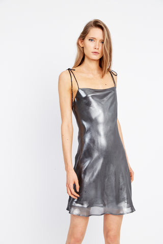 MIRROR MIRROR BIAS MINI SLIP | SILVER