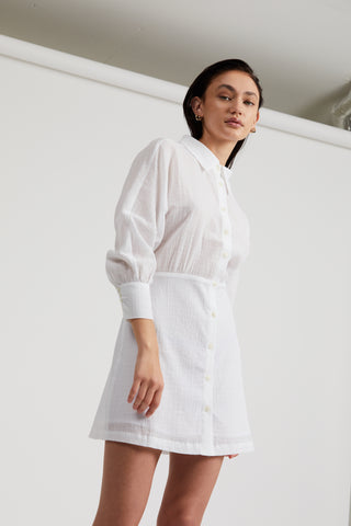 CLOUD SHIRT DRESS | WHITE