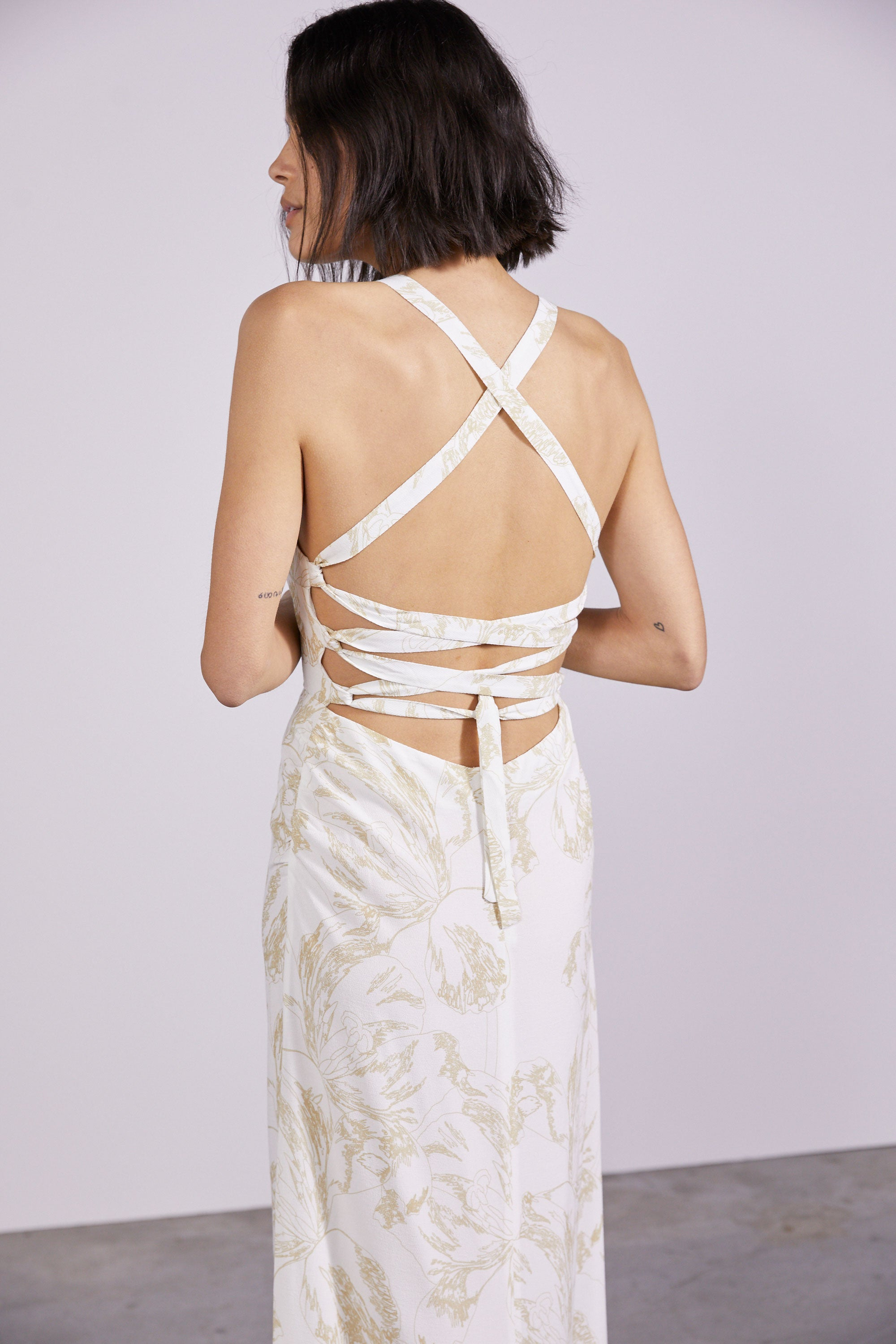 BOUQUET LACE BACK SLIP | FLOWER