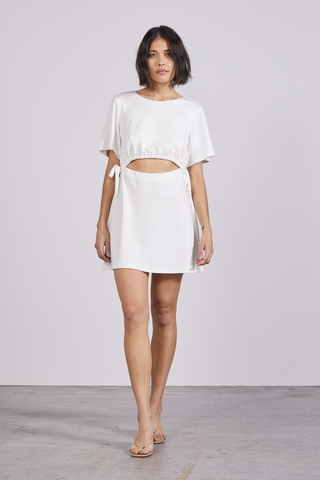 PULL IN TEE DRESS | OFF WHITE