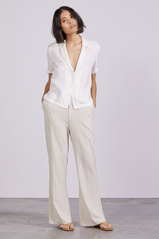 TULIP TAILORED SOFT SHIRT | OFF WHITE