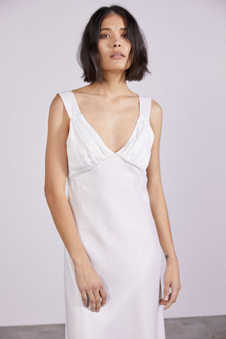 ALLURE SATIN BIAS SLIP | SNOW