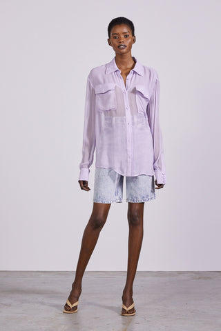 SHEER LOVE SHIRT | LAVENDER