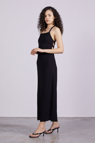 BOUQUET LACE BACK SLIP | BLACK