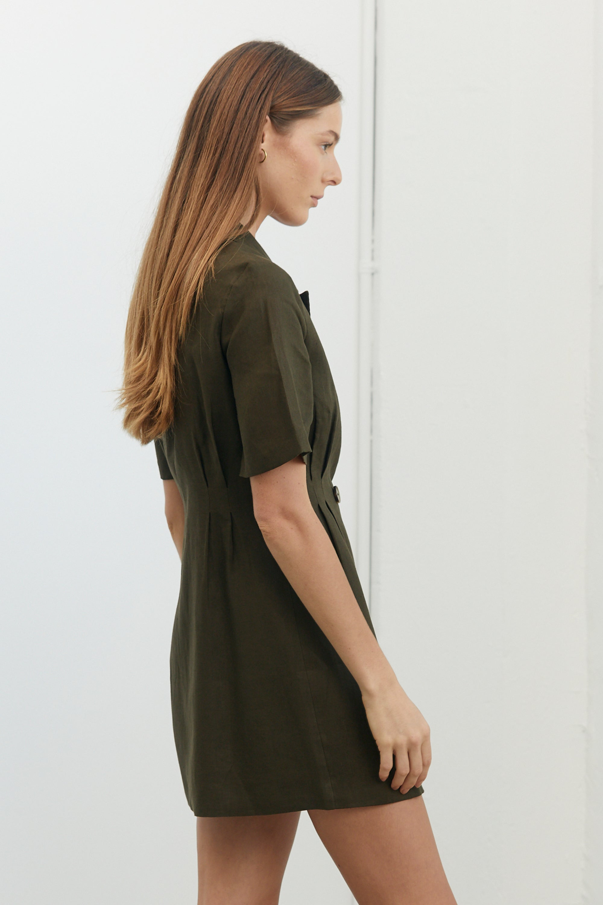 TUCKED IN BLAZER DRESS | ARMY