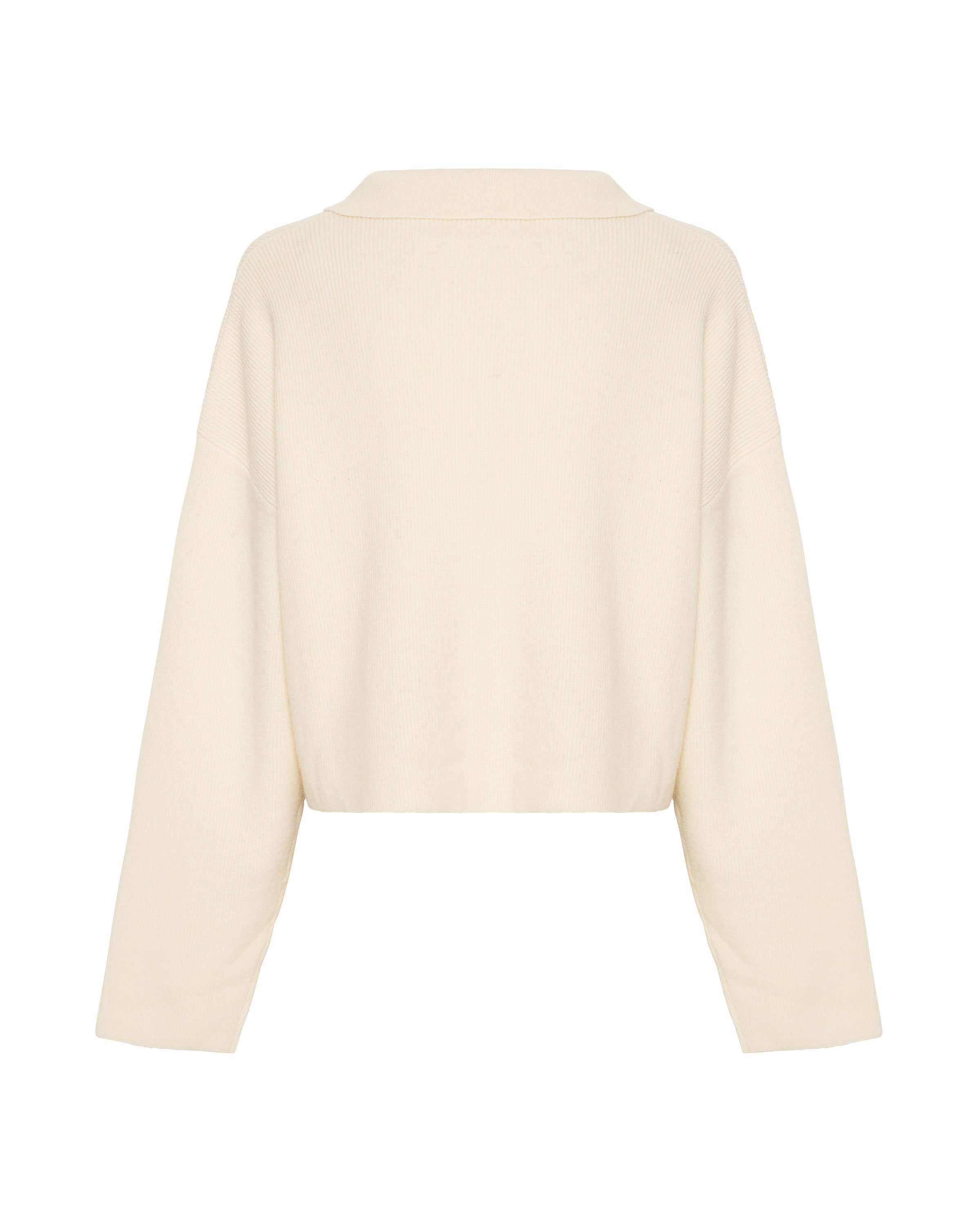 OVERSIZED COLLARED KNIT | CREAM