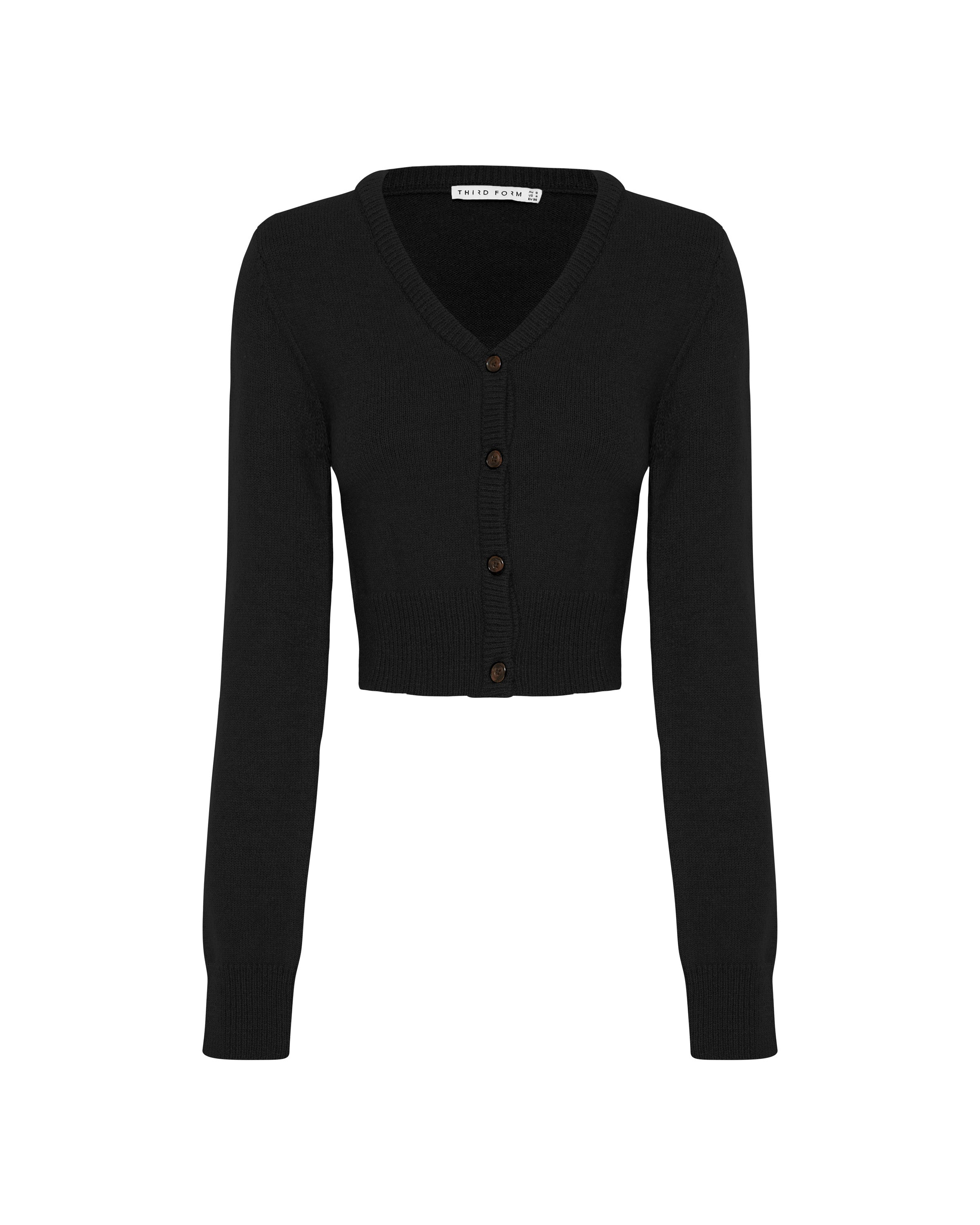 CROP KNIT CARDIGAN | BLACK