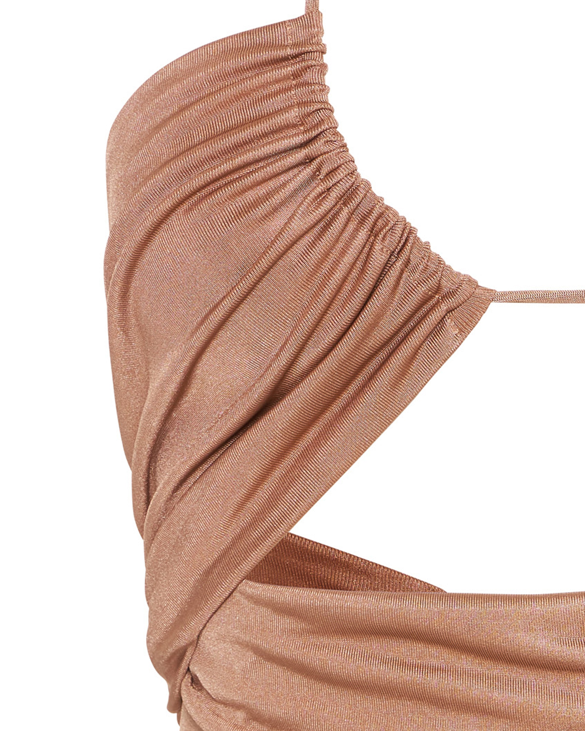 LEAD ON HALTER MIDI | BLUSHING