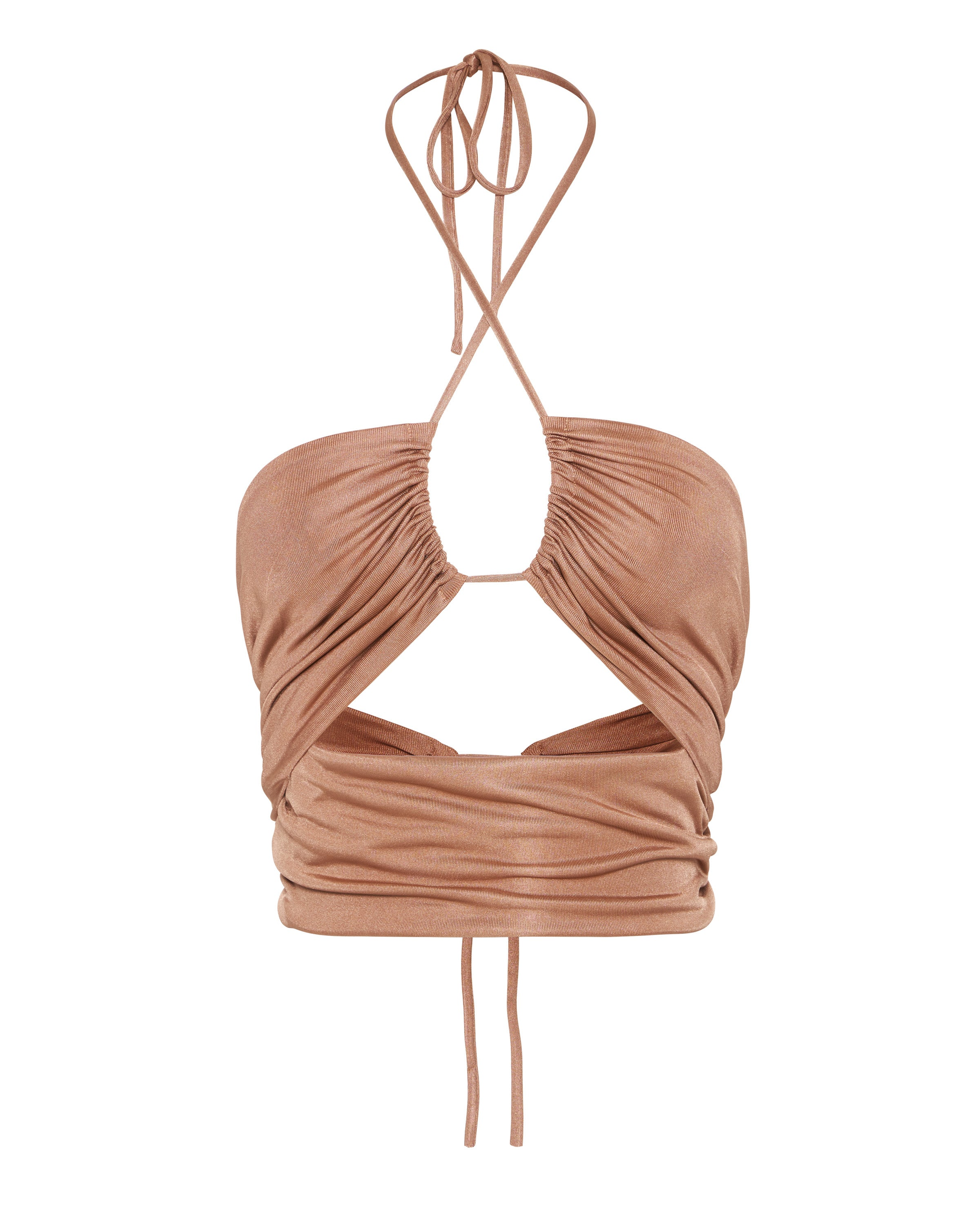 LEAD ON HALTER CROP TOP | BLUSHING