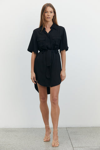 LIFT OFF SHIRT DRESS | BLACK