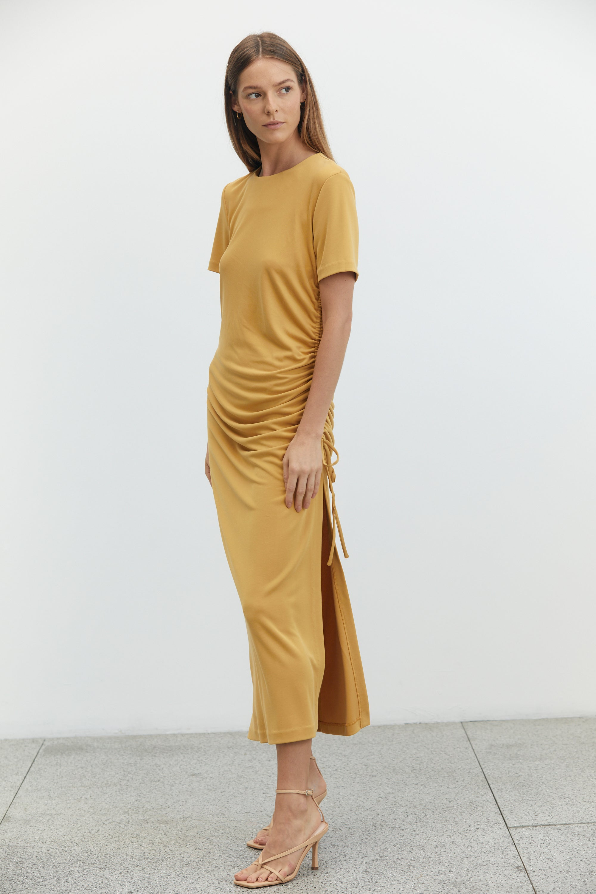 LURE IN MAXI TEE DRESS | DANDELION