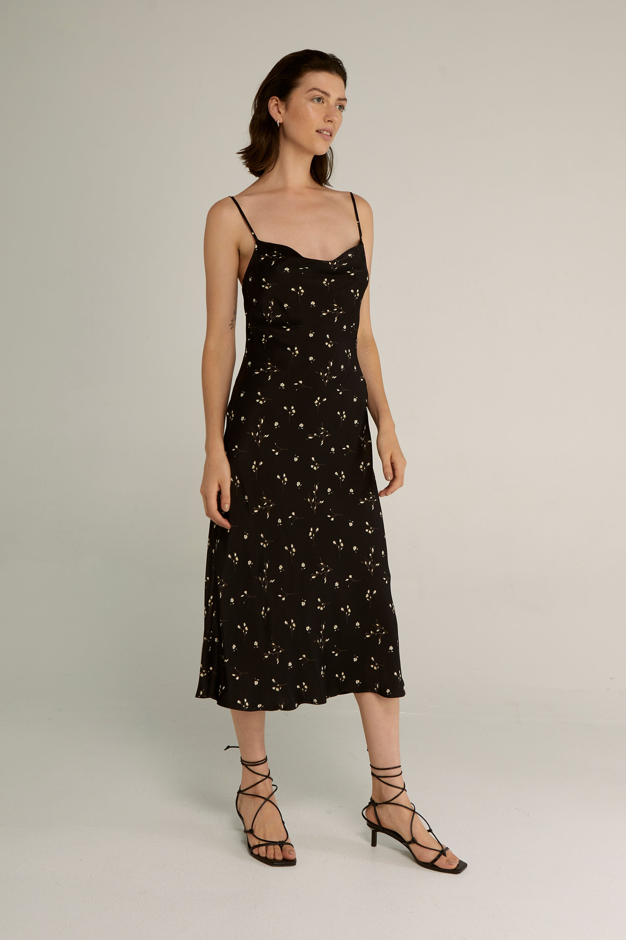 NIGHT BLOSSOM BIAS SLIP DRESS | FLORAL