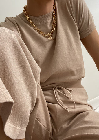 LOUNGE KNIT SET | NATURAL
