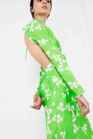 ROLLING FIELDS BIAS MAXI | GREEN GRASS