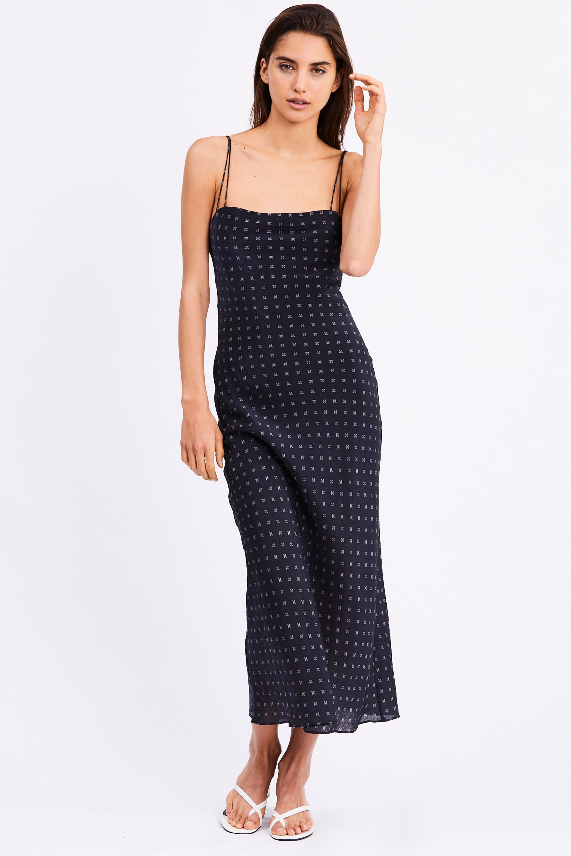 SEAKER BIAS MIDI DRESS | NIGHT STAR