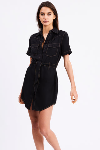 WESTERN SHIRT DRESS | BLACK