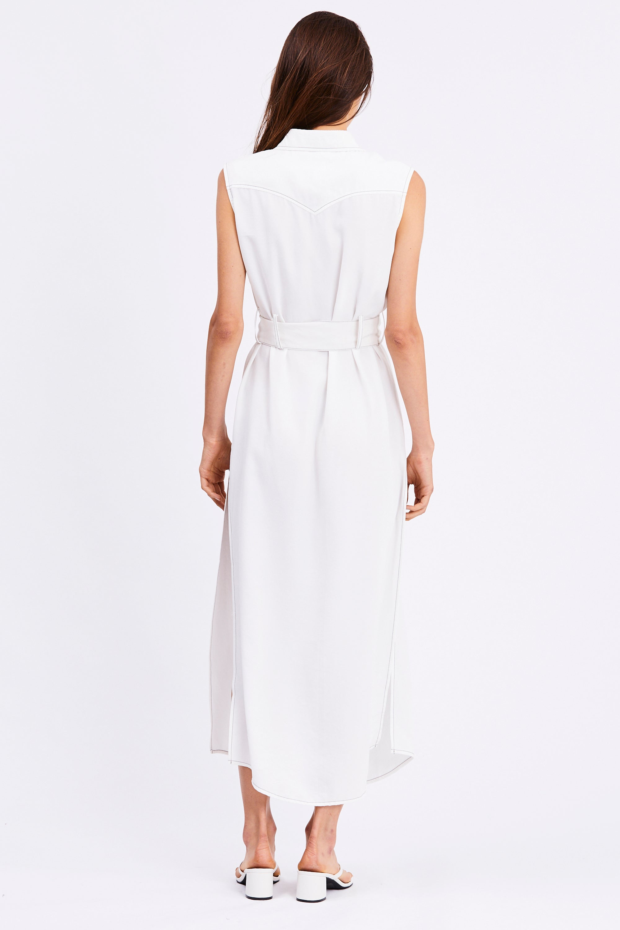 WESTERN MAXI DRESS | OFF WHITE