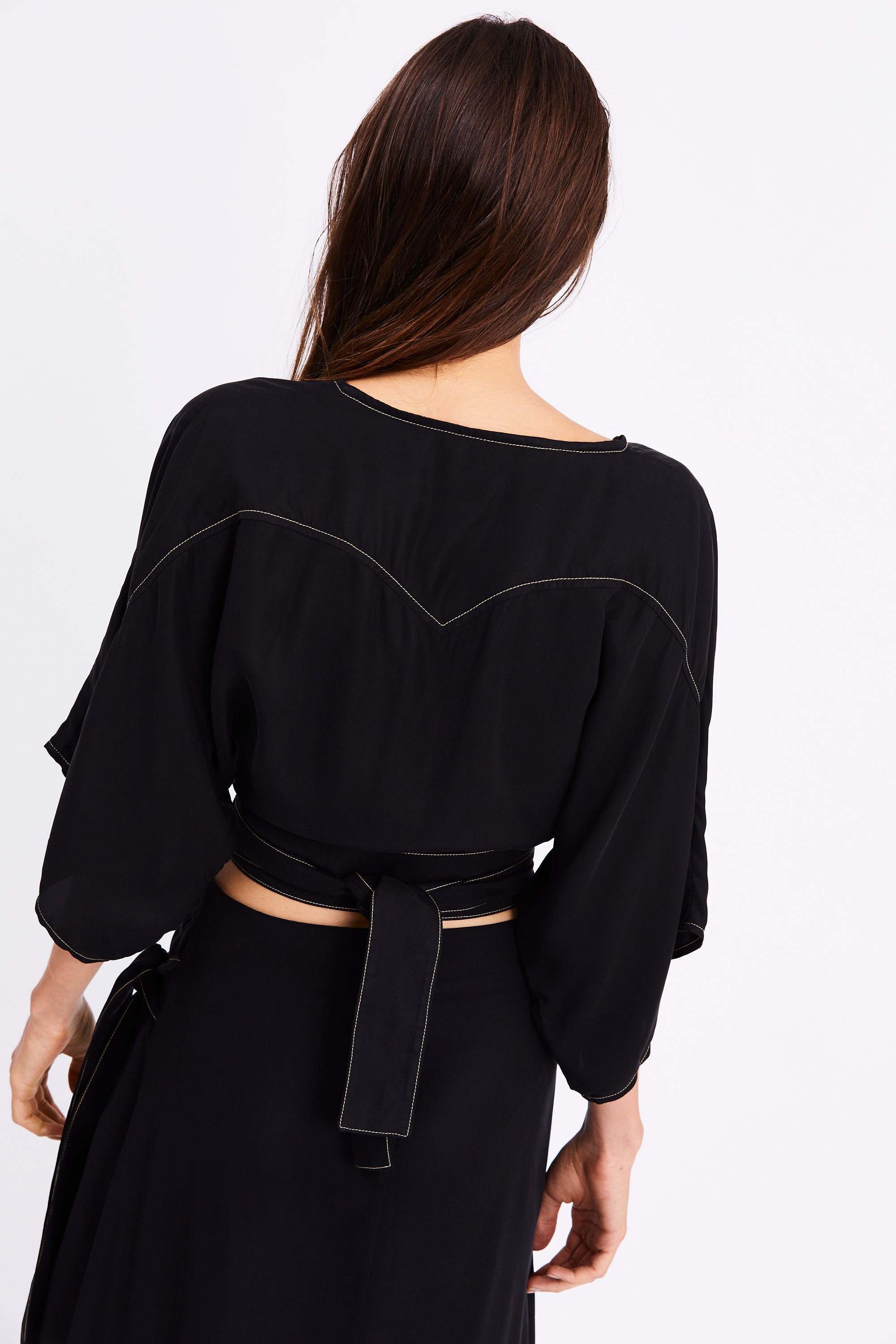 WESTERN WRAP SHIRT | BLACK