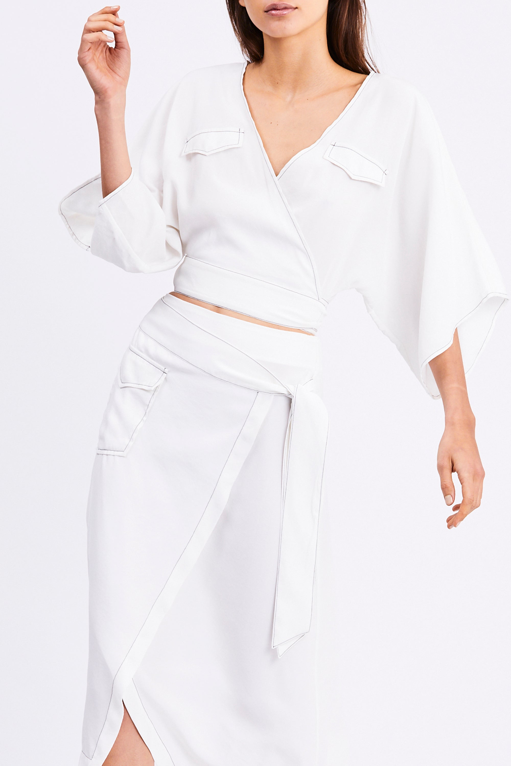 WESTERN WRAP SHIRT | OFF WHITE
