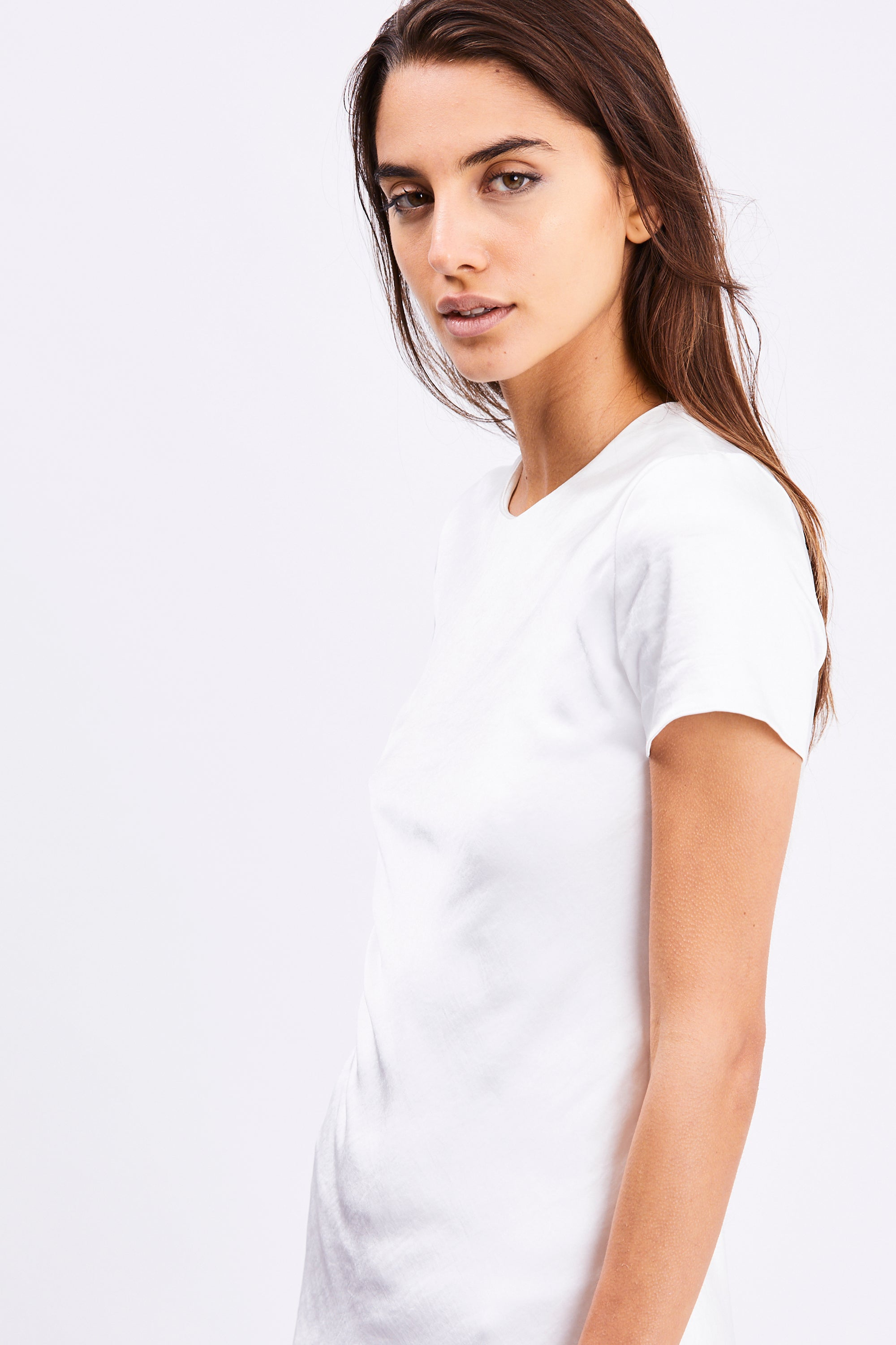 FRILLED BIAS TEE DRESS | OFF WHITE