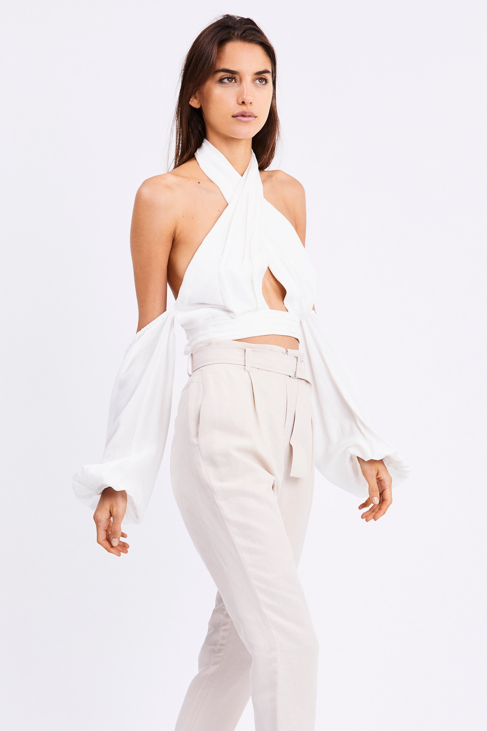 CROSS PATHS BLOUSE | OFF WHITE