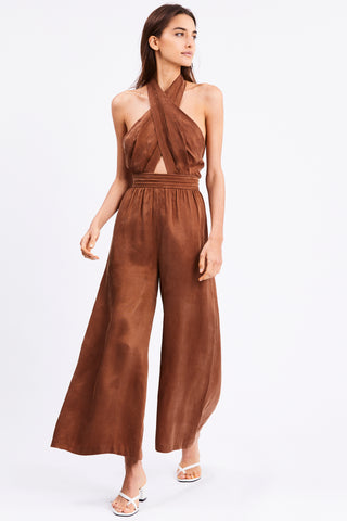 CROSS PATHS JUMPSUIT | BRICK