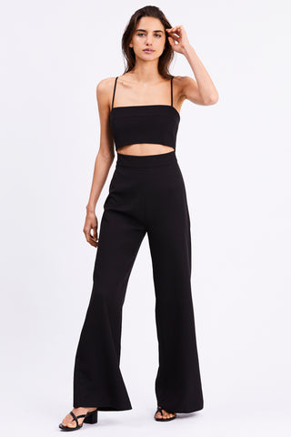SPLIT UP JUMPSUIT | BLACK
