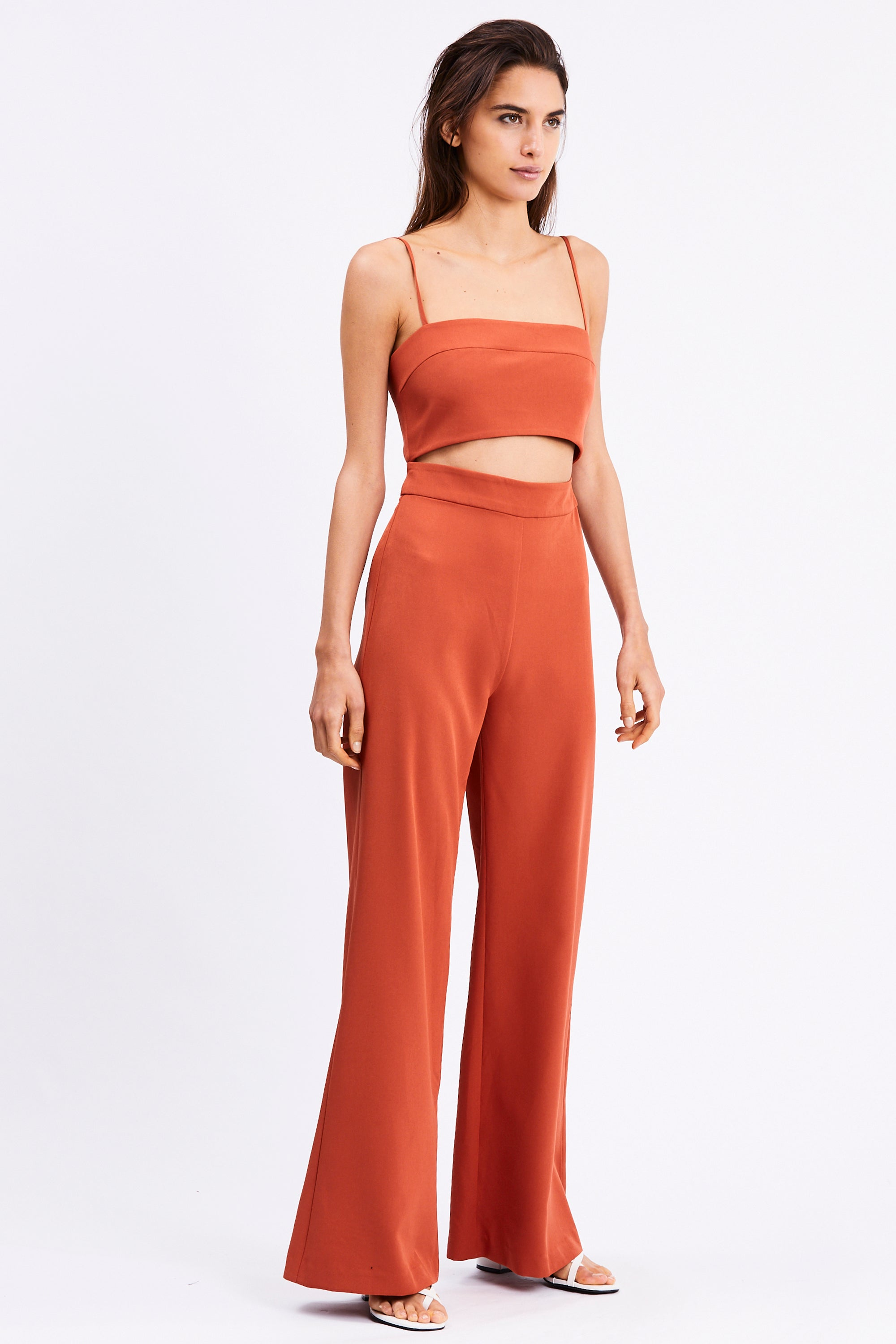 SPLIT UP JUMPSUIT | TERRACOTTA