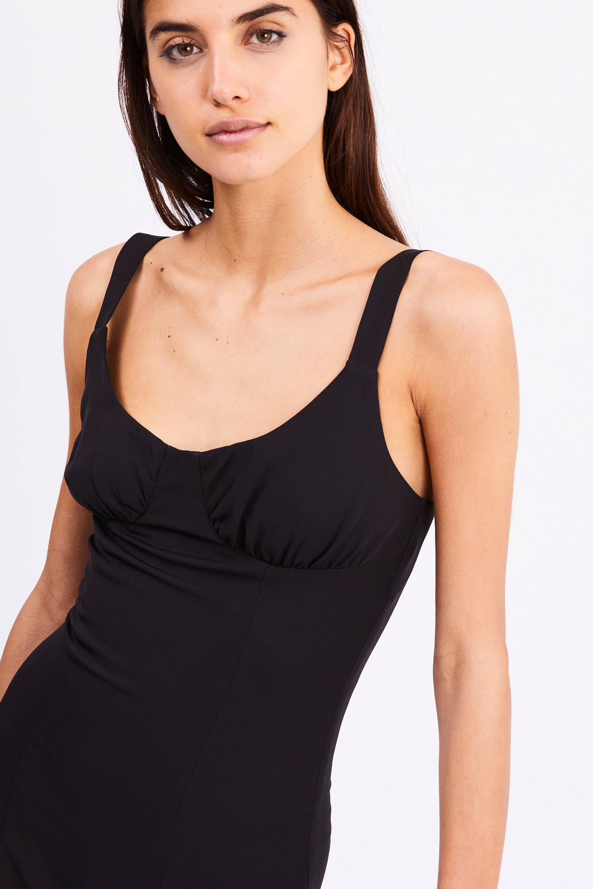 VENTURE GATHER BRA MIDI | BLACK