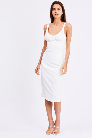 VENTURE GATHER BRA MIDI | OFF WHITE