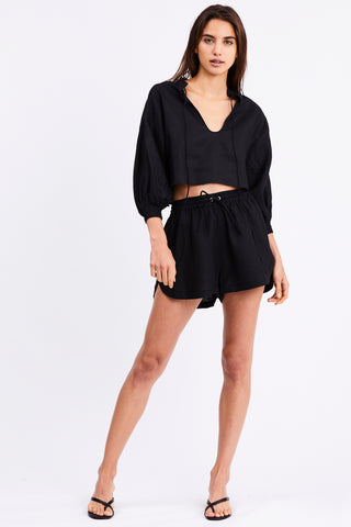 PLAY ON CROPPED BLOUSE | BLACK