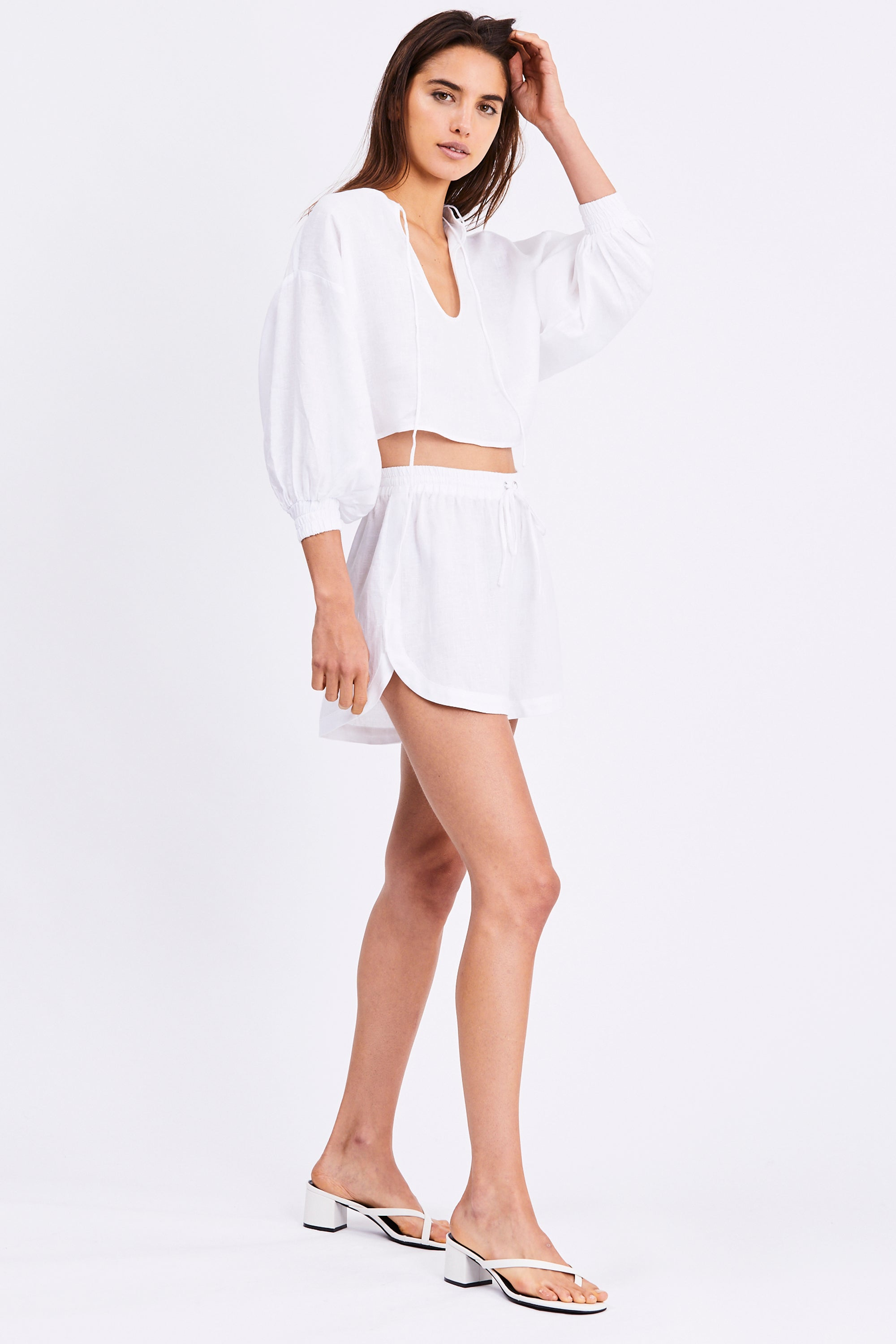 PLAY ON CROPED BLOUSE | WHITE