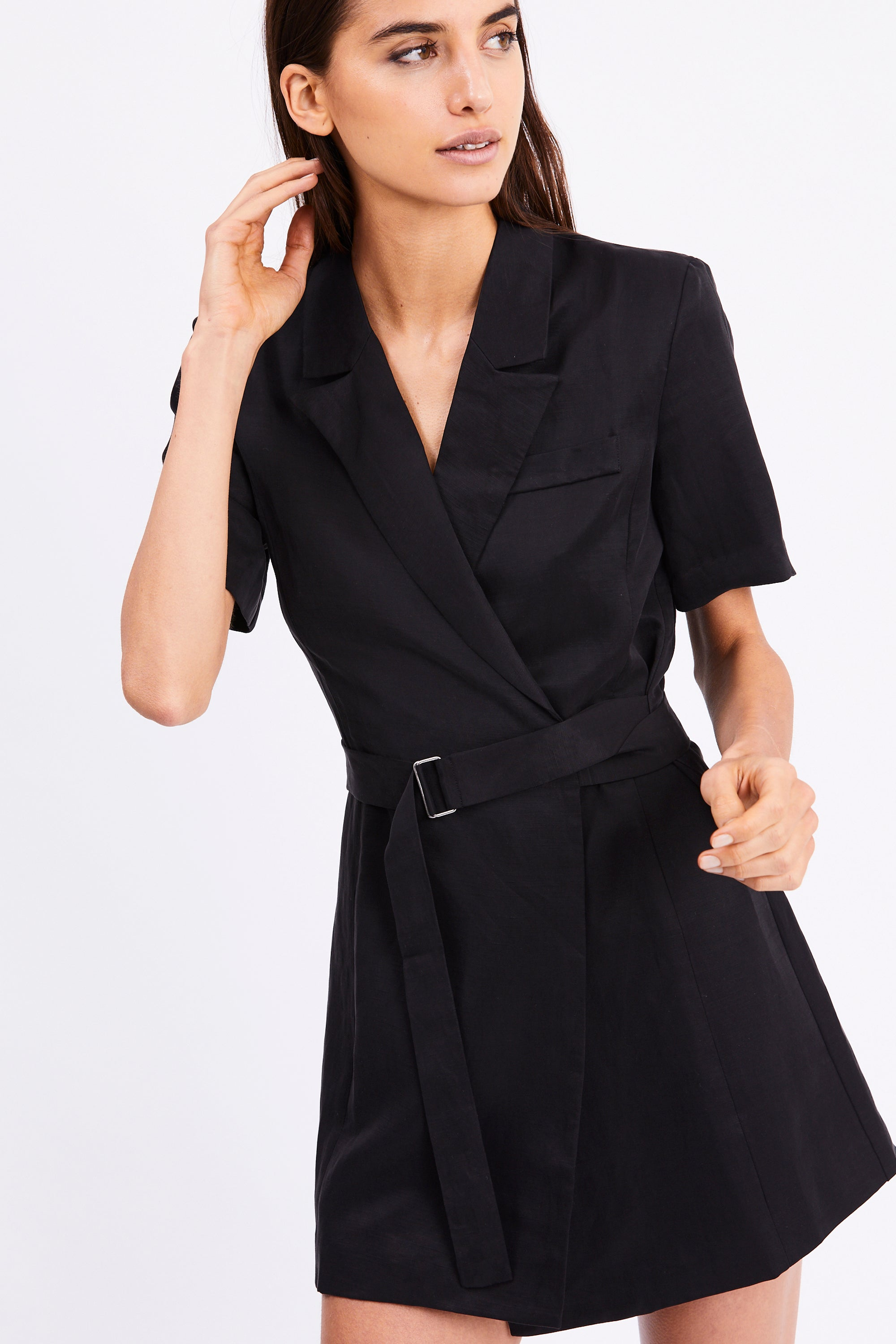 TCB BLAZER DRESS| BLACK